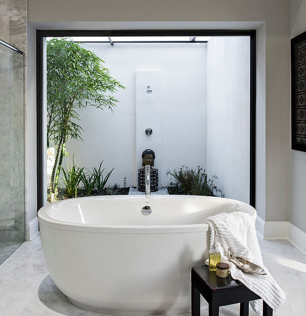 Master Bath - Tub and Outdoor Shower