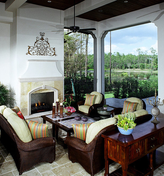 Lanai with Fireplace