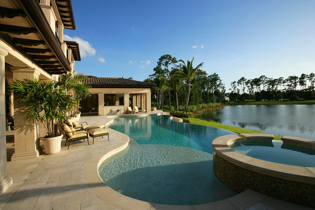 Traditional in the estuary harwick homes for Florida pool homes