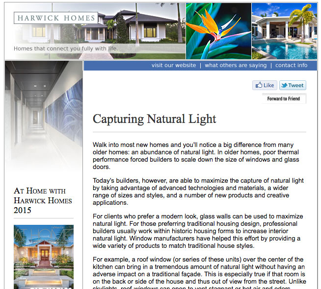 Capturing natural light harwick homes for Natural light in homes