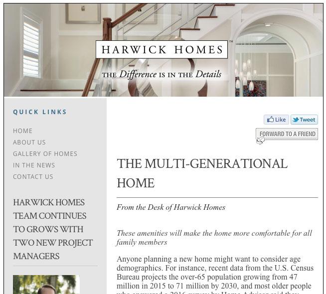 The Multi Generational Home Harwick Homes