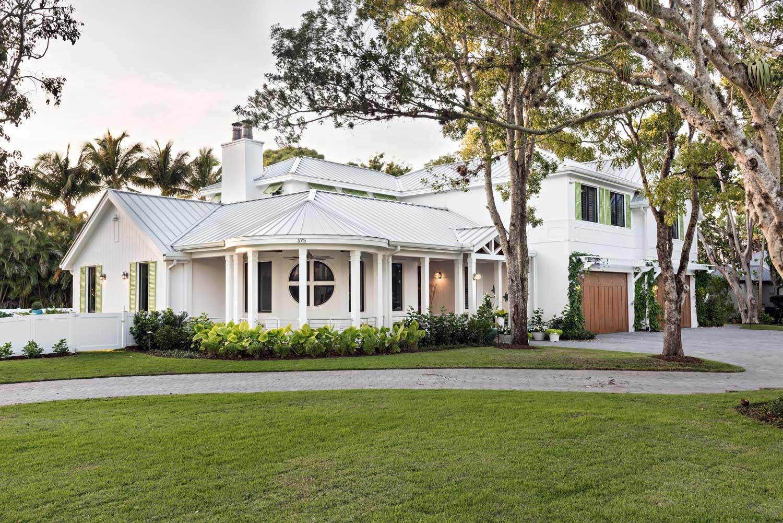 Coastal Contemporary Home Front Elevation