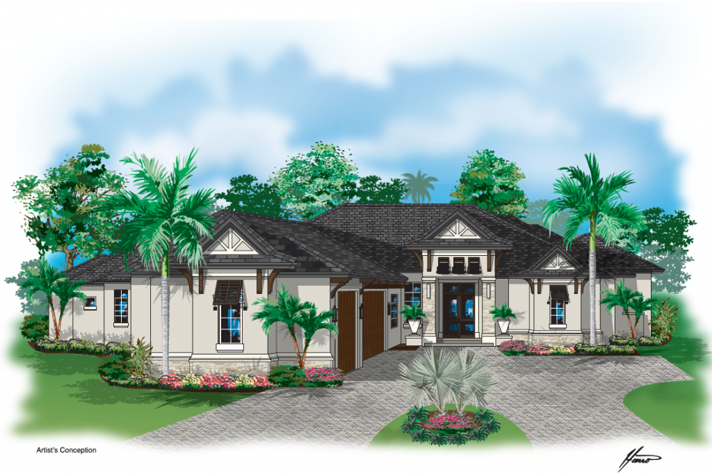 Woodall Construction on New Estate in Bonita Bay