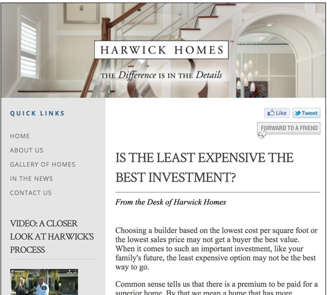 Is the Least Expensive the Best Investment? | Harwick Homes