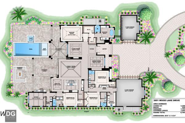 St. Lucia Model Floorplan - Naples, Fl