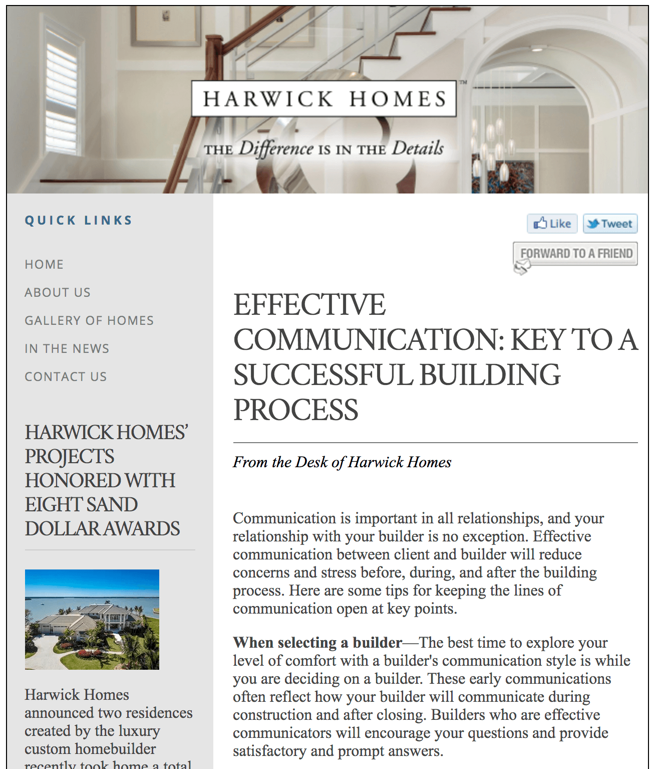 Collins & Dupont Design Group in the news | harwick homes | custom home builder - naples